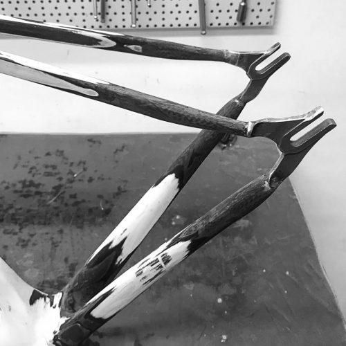 Ausfallenden aus Stahl für den Umbau des Carbonrahmens zum Fixie